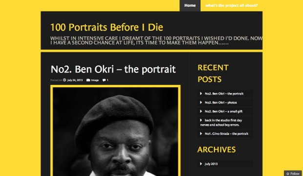 Photographer Gets a Second Chance at Life, Embarks on a 100 Portrait Journey