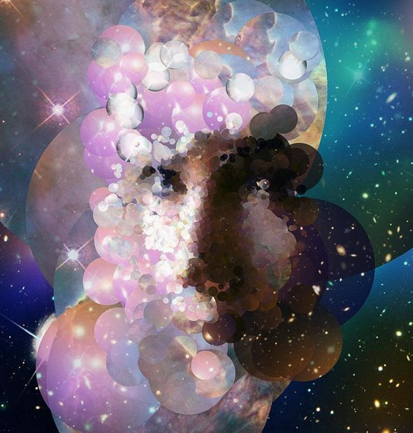 Portraits Created from Pictures of Space Taken by the Hubble Telescope