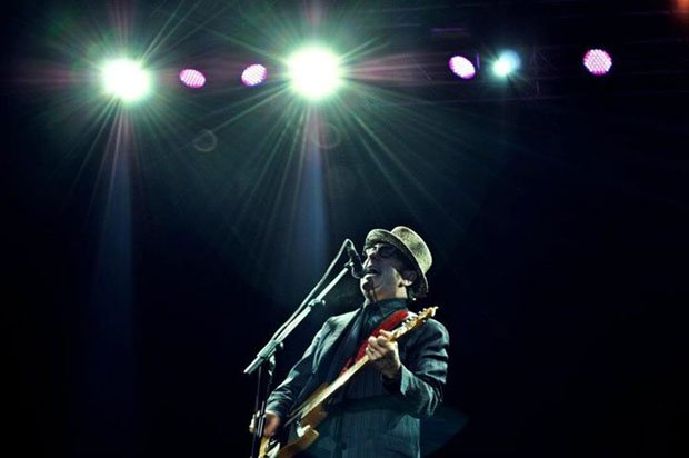 A photo of Elvis Costello I shot at a concert that didn't ban DSLRs
