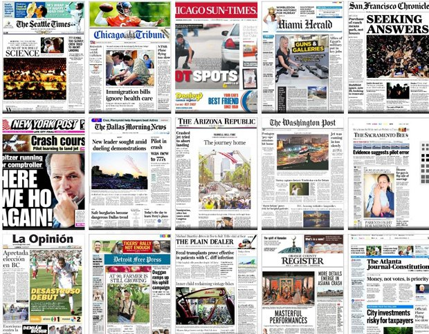 Covertimes: Enjoy Front Page Newspaper Photos from Around the World