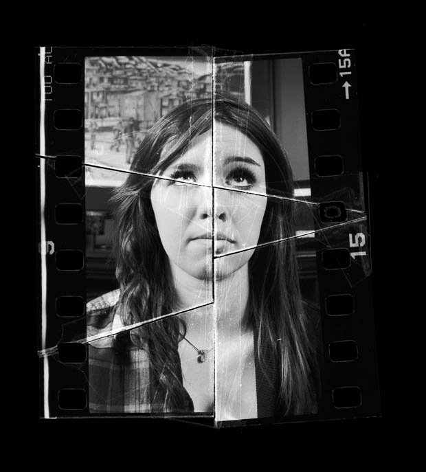 Spliced Film Negative Portraits That Show the Similarities of Siblings
