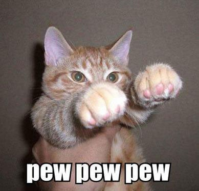 """Pew pew pew"" has been a viral meme on the Web since the mid 2000s."