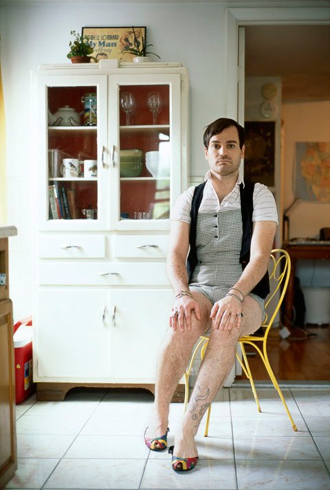 Funny Portraits of Men Dressed in Their Girlfriends' Clothes