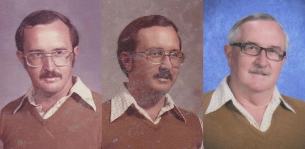 Retired PE Teacher Wore the Same Outfit for 40 Years Worth of Yearbook Photos yearbook