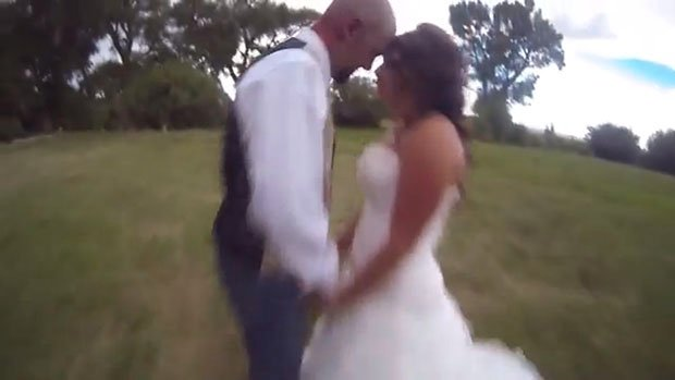 Photographer Flies His Drone Camera Into the Groom's Head During a Bridal Shoot