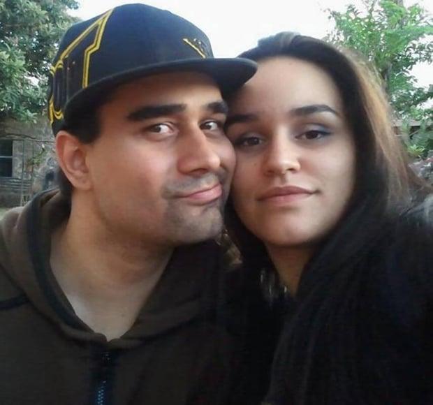 A photograph of Derek Medina and Jennifer Alfonso