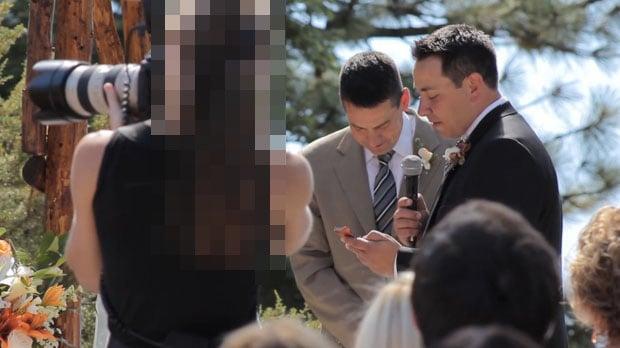 Video: Wedding Photographer Blocks the Videographer's Shots