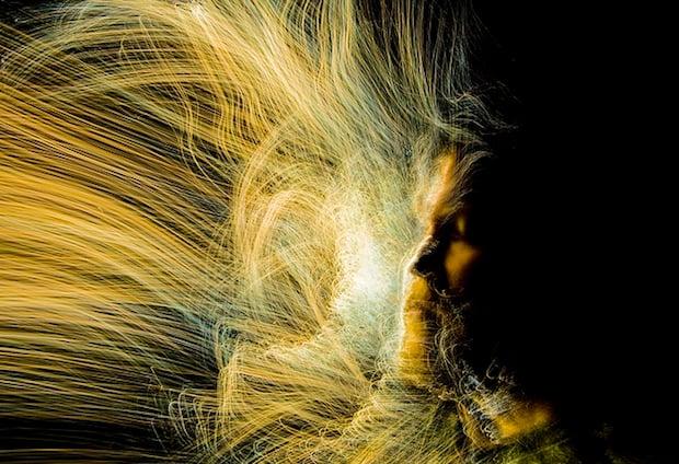 Experimental Light Painting Self-Portraits