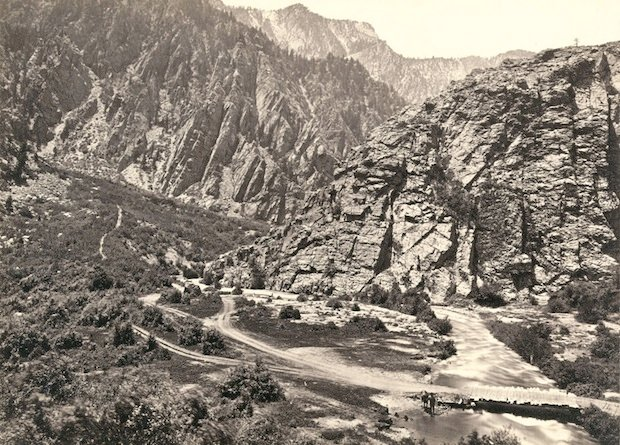 Big Cottonwood Canyon, Utah. Taken in 1868.