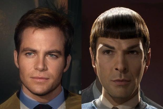 Star Trek Face Morphs Combine Faces of Past and Present Star Trek Actors