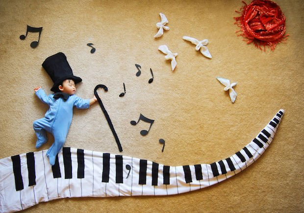 Mother Turns Her Baby Boy's Naptime Into Creative Dreamland Adventure Photos