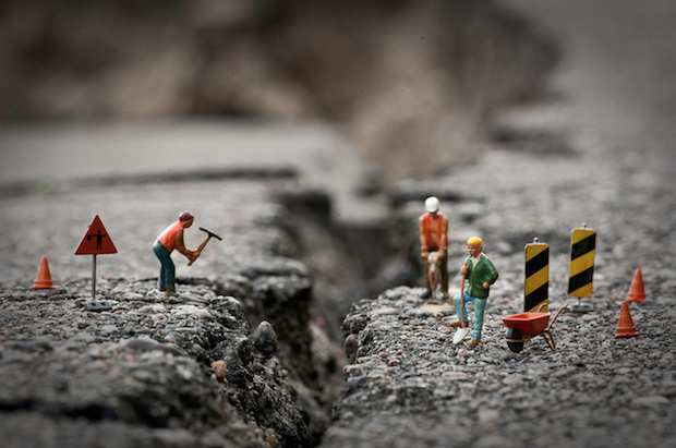Creative Photos of Figurines Going About Their Miniature Lives in Our Big World