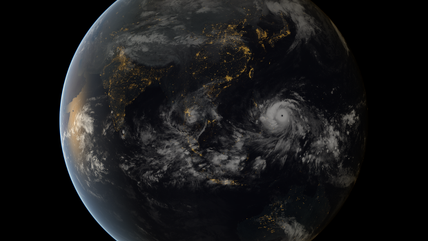 Incredible Satellite Image of Super Typhoon Haiyan Bearing Down on the Philippines