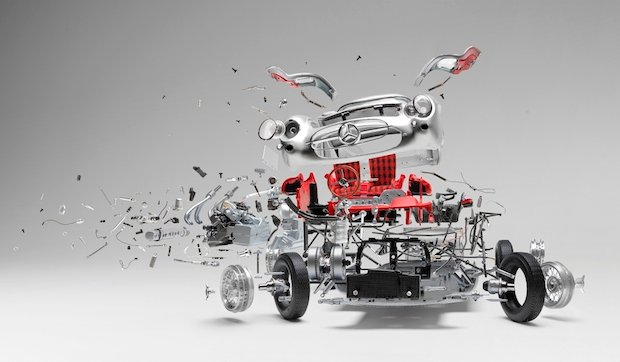 Incredible 'Disintegrating' Car Composites that Took Two Months to Create… Each