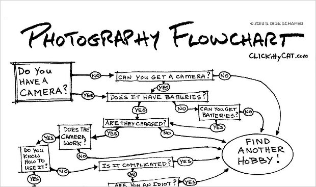 Humorous Photography Flowchart Helps You Decide Whether or Not to Take a Photo