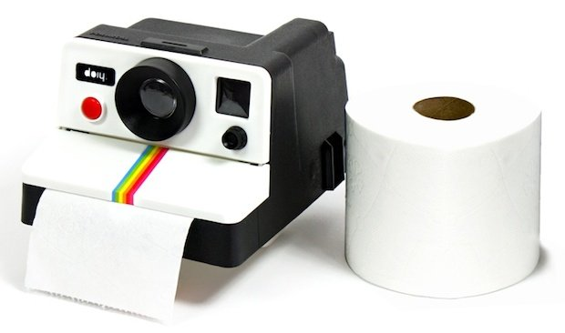 Polaroll: A Toilet Paper Dispenser Shaped Like a Polaroid Camera… Yes It's Real