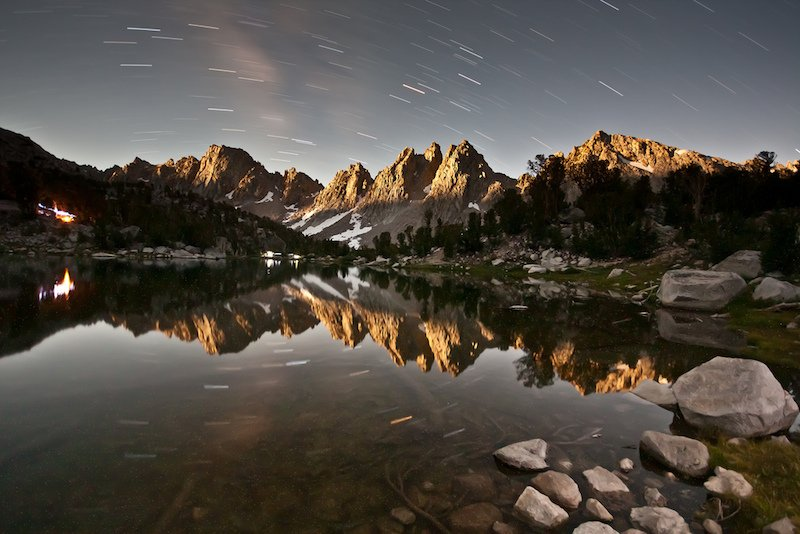 Kearsarge Pinnacles by Moonlight