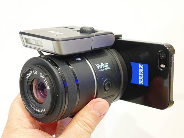 Vivitar Working on Interchangeable Lens Smartphone Add-On