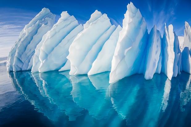 Iceberg, Paradise Harbor, Antarctic Peninsula, Antarctica.