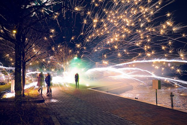 Accidentally Awesome: Fireworks Mishap Results in Amazing New Year's Photo
