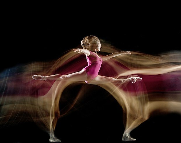 Photog Captures the Elegant Movements of Dancers in Stunning Long Exposure Series
