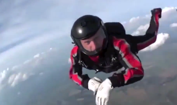 Helmet Cam Captures Skydiver's Terrifying Unconscious Free Fall and the Heroism of the Friends that Saved Him