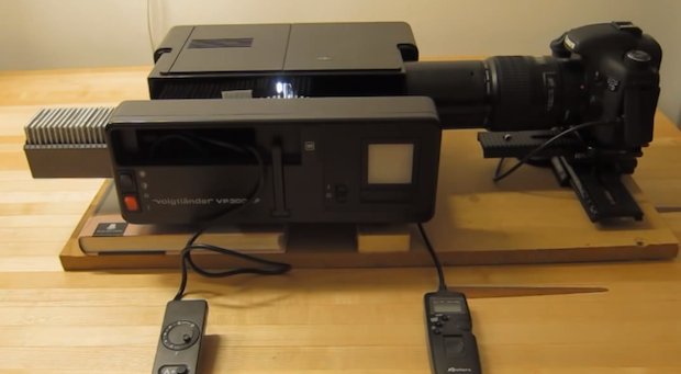 Neat DIY Projector Rig Lets You Digitize 15 Slides Per Minute Automatically