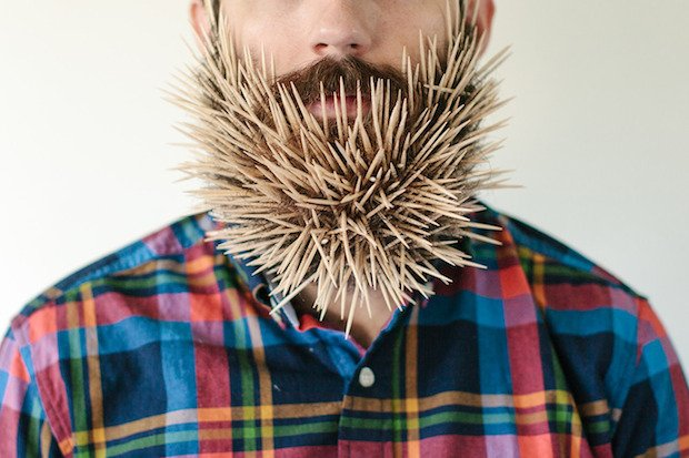Will It Beard: Fun Photo Series of Random Household Items Stuck in a Man's Beard