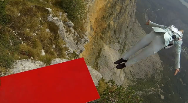 Base Jumping and 'High Fashion' Meet in this Adrenaline–Fueled Shoot