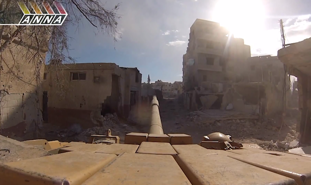 Terrifying GoPro Footage Captures Syrian Tanks Wreaking Destruction