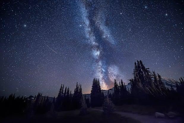 Spires--Mount-Rainier,-Washington