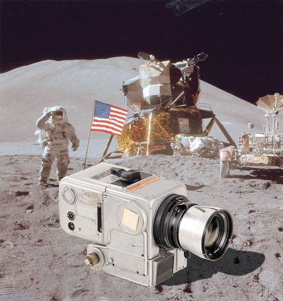 A Hasselblad camera described as the one used on the moon by Apollo 15 astronaut Jim Irwin was auctioned March 22, 2014 by the WestLicht Gallery in Austria for almost $1 million. CREDIT: WestLicht Gallery