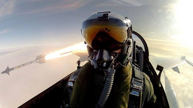 Fighter Pilot Takes Truly Epic Selfie While Firing an Air-to-Air Missile in Training