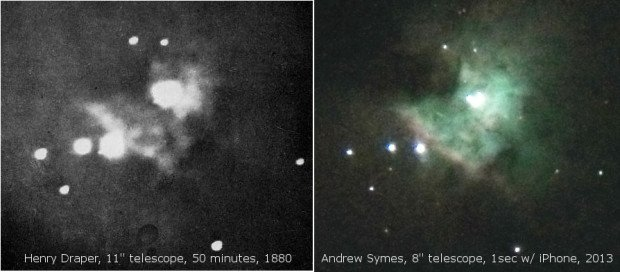 Two Photos of the Orion Nebula Show Just How Far Photography Has Come