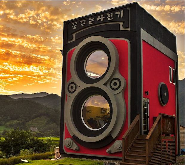 This Coffee Shop in South Korea is Shaped Like a Rolleiflex Camera
