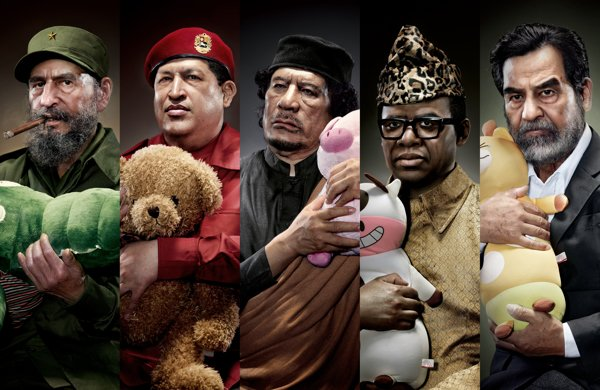 Photoshopped Portraits Paint a Creepy and Cuddly Picture of Infamous World Leaders
