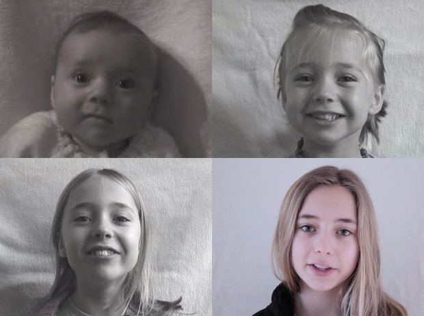 Ages 0 to 14 in Four Minutes: Dad Updates Daughter's Viral Aging Time-Lapse