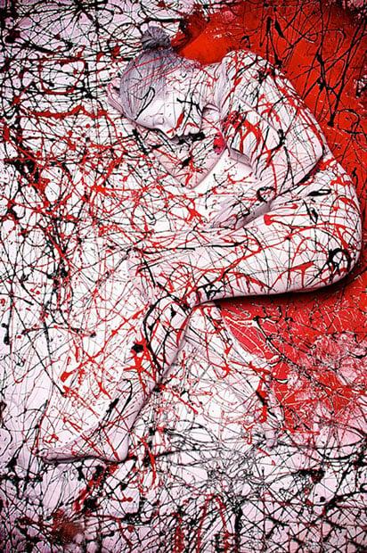 Splatter-Body-painting