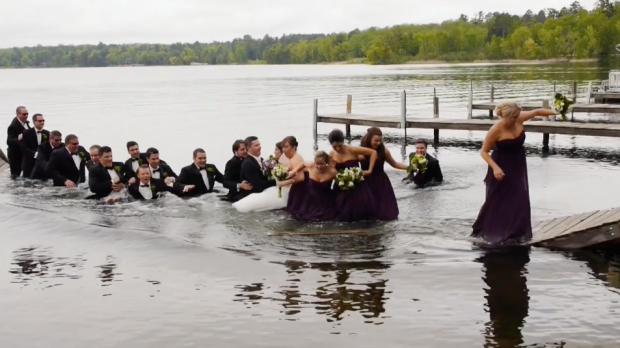 Reminder: This is Why You Don't Shoot the Wedding Party on a Flimsy Dock