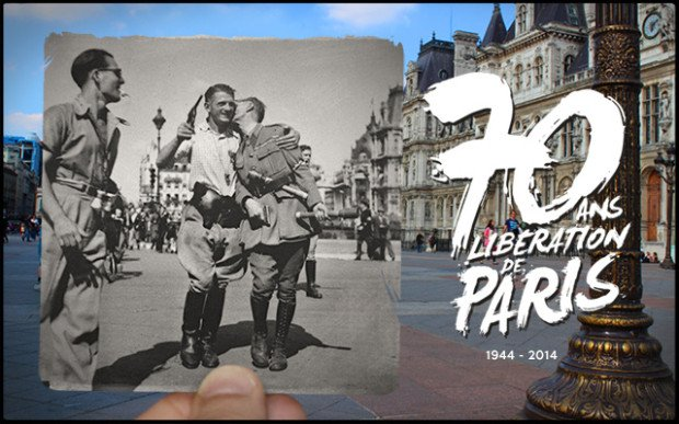 Then & Now Photos Pay Tribute to The 70th Anniversary of The Liberation of Paris