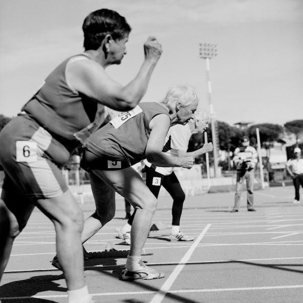 100 meter sprinters, women. 80-84.