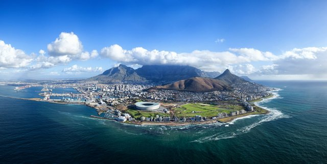 Beautiful Panorama of Cape Town South Africa