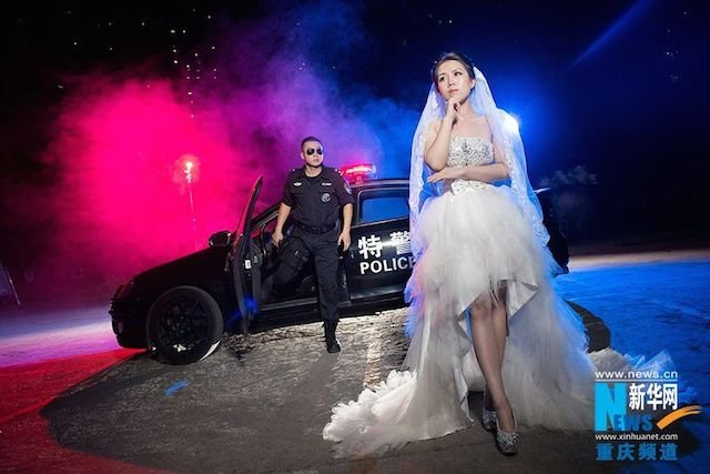 Chinese SWAT Member and Fiancée's Action-Packed Engagement Photos Go Viral