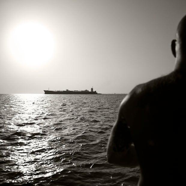 Inbound Tanker, Galveston Bay, 2013.