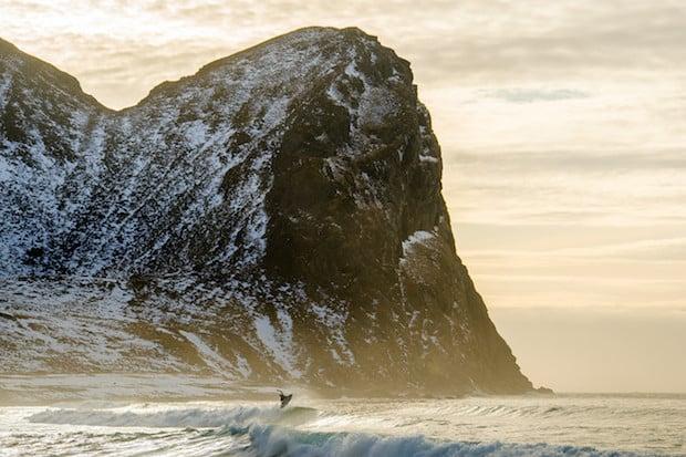 """2014, CHRIS BURKARD, NORWAY, WINTER, SURFING"""