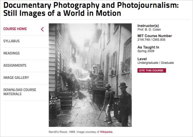 MIT Offers Documentary Photography and Photojournalism Course for Free Online