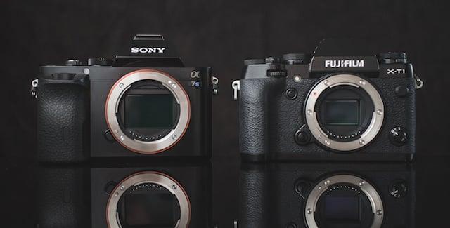 Size Comparison: Sony a7s vs. Fujifilm X-T1