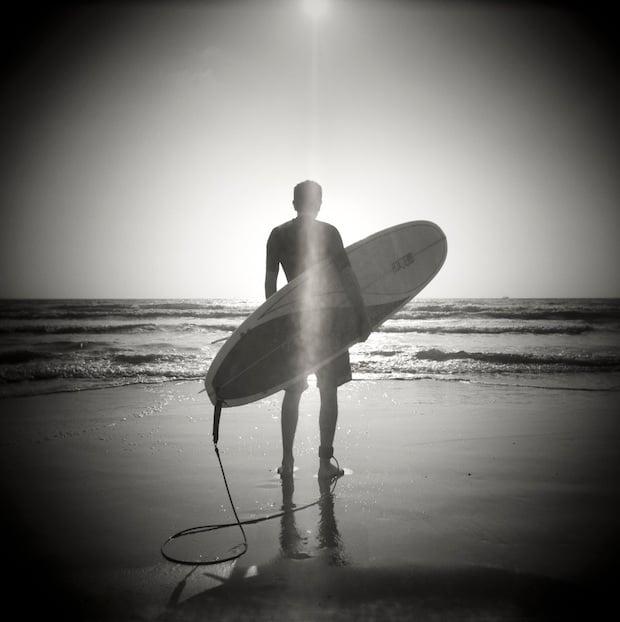 Lone Surfer, South Padre Island, 2005.