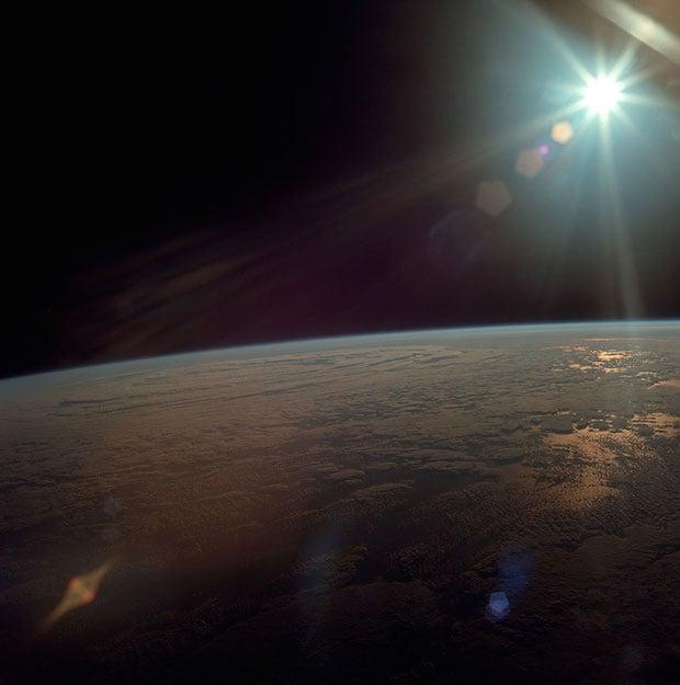 Apollo 11's view from Earth orbit.