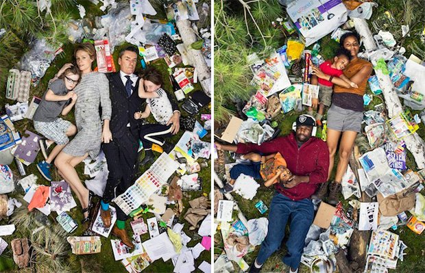 Personifying the Waste Problem: Photos of People Lying in 7 Days of Their Own Trash